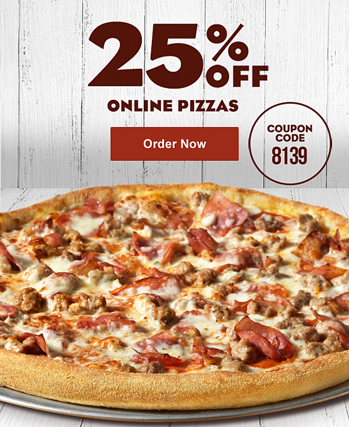 25% Off Your Online Order.  Use Coupon code 8139. Offer expires 6/27/2021